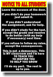 Notice To Students Big Text