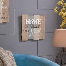 DANYA B Inspirational Home Is Where The Heart Wooden Wall Plaque Sign