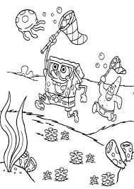 Download Spongebob Hunting Jellyfish Coloring Pages Or Print