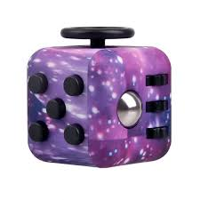 EDC Novelty Toy Stress Relief Fidget Magic Cube Purple