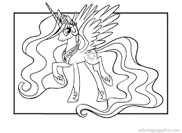 Free Coloring Pages Of My Little Pony Celestia