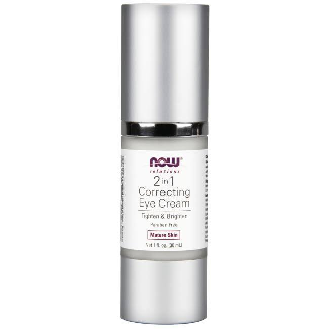 Now Foods Solutions 2 in 1 Correcting Eye Cream - 30ml