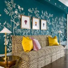 Cheetah Print Living Room Decor by Cheetah Print Stencil Design Ideas