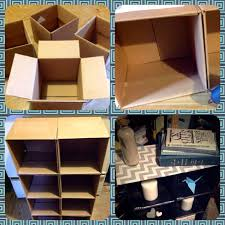 Cardboard Box Storage Cube Turn Cardboard Boxes Into A Simple