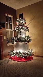 Frosty Snowman Christmas Tree by Snowman Tree Peeinn Com