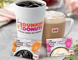 Pumpkin Spice Latte Dunkin Donuts Ingredients by Dunkin U0027 Donuts Restaurant Holiday Coffee Tea Lattes Card