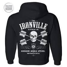 bodybuilding u0026 powerlifting gym pullover hoodies ironville clothing