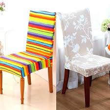 Dining Room Seat Covers Chair Patterns Cover Decor Stripes Pattern Kitchen