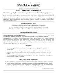 Sample Resume Retail Sales Supervisor Examples Operation Manager And Operations Free Templates