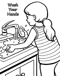 Backgrounds Coloring Hand Washing For Kids Pages Free Hands