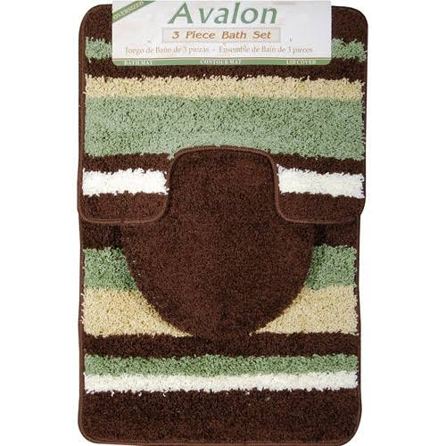 Avalon 3-Piece Bath Rug Set