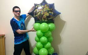 Ninja Turtle Decorations Ideas by Easy Ninja Turtles Balloon Column Lesson Youtube