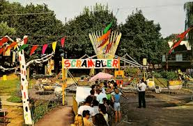 Dorney Park Halloween Commercial by A Late 1960s Postcard Showing The Scrambler Ride At Dorney Park