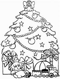 Presents And Christmas Tree Coloring Pages For Kids Printable
