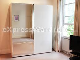 bedroom design beige curtain with mirror ikea pax wardrobe and