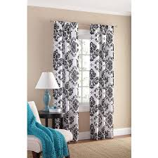 Brown And Teal Living Room Curtains by Amazon Com Black And White Damask Curtain Panel Set Of 2 40x84