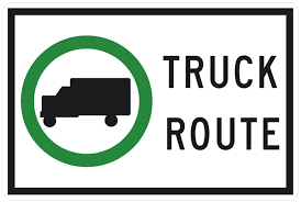 100 Truck Route Sign URBAN FREIGHT INITIATIVES