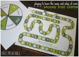 Strange Relentlessly Fun Deceptively Educational Money Trail Board Game Easy Worksheet Ideas Recycleroughlycom
