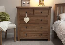 Tilson Solid Rustic Oak Furniture 2 Over 3 Chest Of Drawers