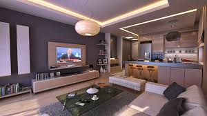 Home Design Living Room And Kitchen Impressive Open Concept Inside 87 Excellent Apartment