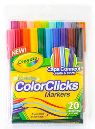 Crayola Bathtub Crayons Collection by Crayola Colorclicks 20 Count Markers What U0027s Inside The Box