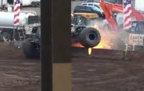 100 Monster Monster Truck Truck Crashes Into Electrical Equipment At Clark