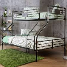 American Freight Bunk Beds by Furniture Of America Olga I Twin Queen Bunk Bed In Antique Black