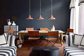 farrow black and copper dining room rooms theme