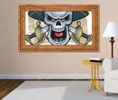 3d wandtattoo pirat schwert hut kapitän selbstklebend wandbild sticker wohnzimmer wand aufkleber 11k556 3dwandtattoo24 de