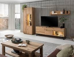 wohnzimmer porto 31 eiche bianco massiv 4 teilig wohnwand