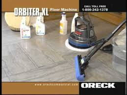 oreck commercial orbiter floor machine concrete cleaning youtube