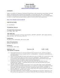 Sample Resume Net Developer For Study