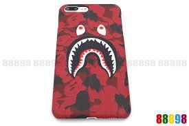 A Bathing Ape Bape ABC Camo Shark Hard Phone Case Cover For iPhone