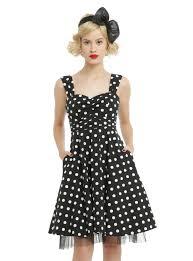 black u0026 white polka dot swing dress topic