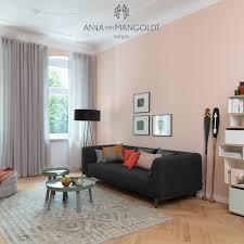 wohnzimmer wand apricot caseconrad