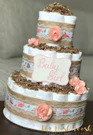 Coral Colored Decorative Items by Shabby Chic Coral Diaper Cake Baby Coral Pink Mint Gold