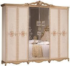 lignemeuble taly laqué elfenbein und verziert schlafzimmer