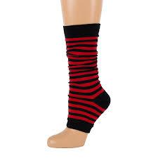 striped toeless socks leg warmers ebay