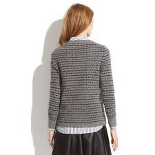 madewell heartstripe sweater in gray lyst