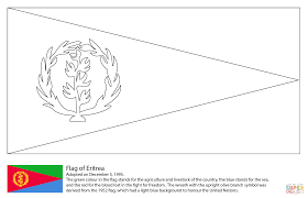 Click The Flag Of Eritrea Coloring Pages