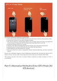 FoneDog guide how to put your iphone into dfu mode