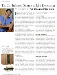 Infrared Lamp Therapy Benefits by Read What Dr Oz Has To Say About Infrared Sauna Use And Life