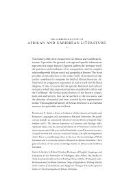The Cambridge History Of African And Caribbean Literature 0521594340 2004