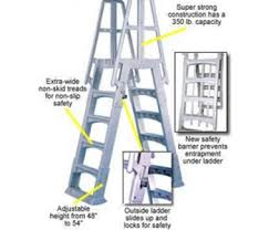 Above Ground Pool Ladder Deck Attachment by Swimming Pool Ladders Buy Your Pool Accessories At Pool Mart