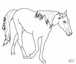 Horse Jumping Coloring Pages 10