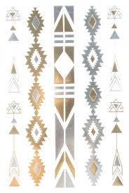 Gold Silver Black Jewelry Design Metallic Temporary Tattoos