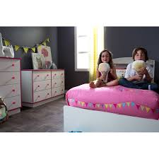 South Shore White Dressers by South Shore Logik 6 Drawer Double Dresser White And Pink