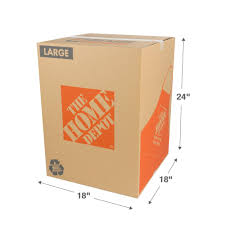 The Home Depot 18 In. L X 18 In. W X 24 In. D Large Moving Box ...