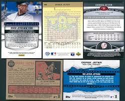1993 Upper Deck Top Prospect Derek Jeter by Lot Of 5 Derek Jeter Baseball Cards With 1993 Upper Deck 449 Rc