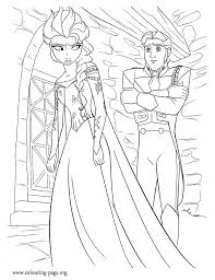 Hans Brings Elsa Back To The Kingdom And Imprisons Her In Dungeon Print Out
